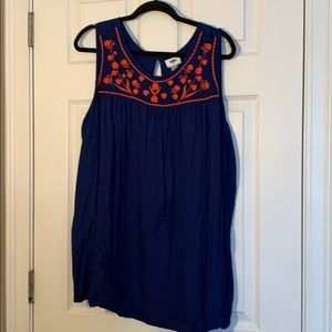Old Navy Plus Size 4x Embroidered Tank Top